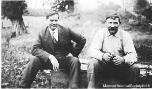 Hiram Ellsworth Pearsall, left, with George Walters, right